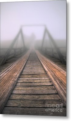 Bridge To Fog Metal Print by Veikko Suikkanen