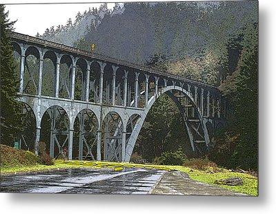 Bridge To Nowhere Metal Print by Harold Greer