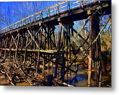 Bridge To Nowhere Metal Print by Lisa Wooten
