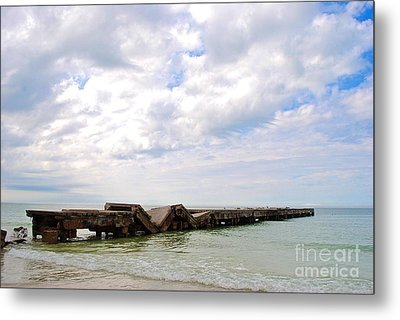 Metal Print featuring the photograph Bridge To Nowhere by Margie Amberge