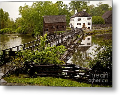 Metal Print featuring the photograph Bridge To Philipsburg Manor Mill House by Jerry Cowart