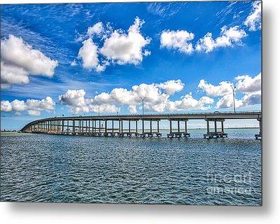 Bridge To South Padre Metal Print by Tod and Cynthia Grubbs