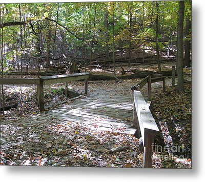 Bridge To The Forest Deep Metal Print