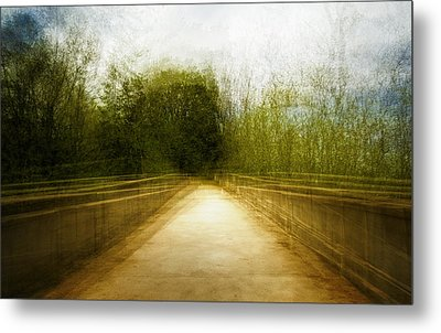 Bridge To The Invisible Metal Print by Scott Norris