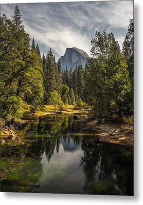 Bridge View Half Dome Metal Print