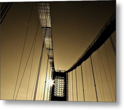 Bridge Work Metal Print by Robert Geary