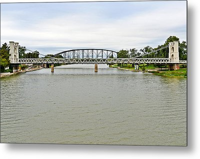 Bridges In Waco Tx Metal Print by Christine Till