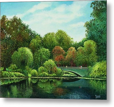 Metal Print featuring the painting Bridges Of Forest Park by Michael Frank