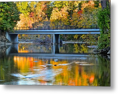 Bridges Of Madison County Metal Print by Frozen in Time Fine Art Photography