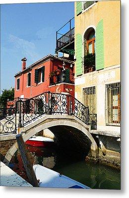 Bridges Of Venice Metal Print by Irina Sztukowski
