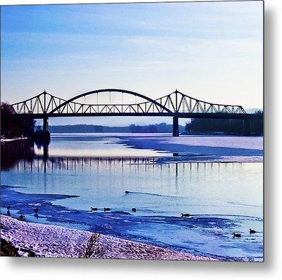 Bridges Over The Mississippi Metal Print by Christi Kraft