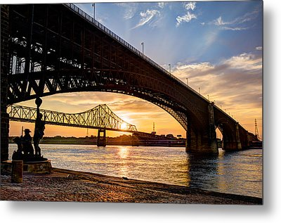 Bridges Over The Mississippi Metal Print