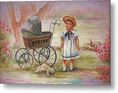Metal Print featuring the painting Bridget by Patricia Schneider Mitchell