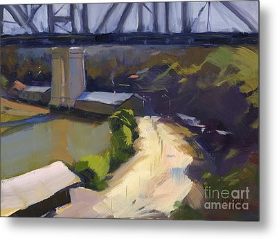 Metal Print featuring the painting Bridging Gaps After Colley Whisson by Nancy  Parsons
