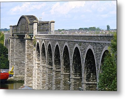 Bridging The Boyne Metal Print by Charlie and Norma Brock