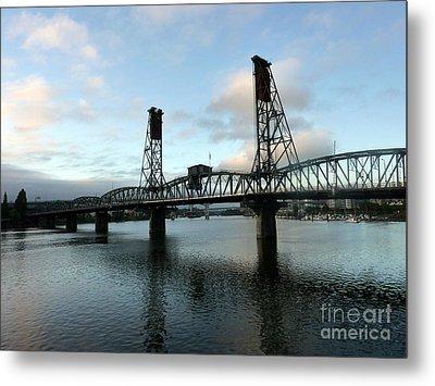Bridging The River Metal Print by Susan Garren