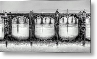 Bridging The Susquehanna  Metal Print by JC Findley