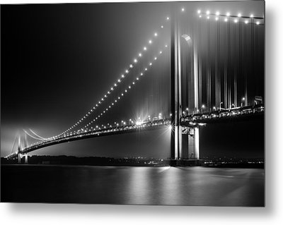 Bridging Verrazano Narrows Metal Print by Mihai Andritoiu