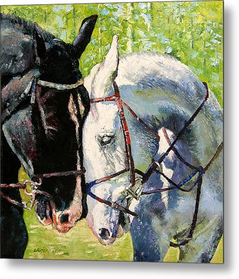 Bridled Love Metal Print by John Lautermilch