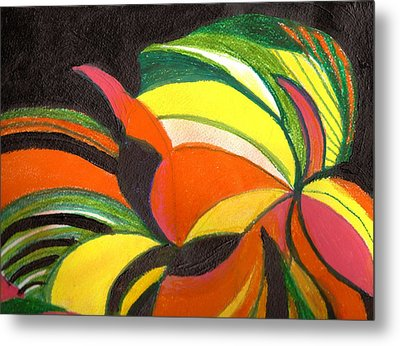 Bright Abstract II Metal Print by Anne-Elizabeth Whiteway