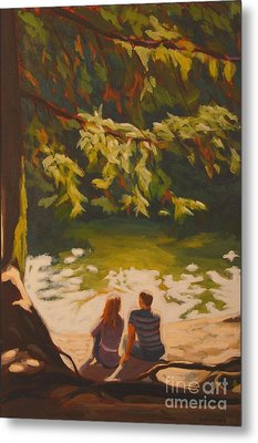 Metal Print featuring the painting Bright Angel Moment by Janet McDonald