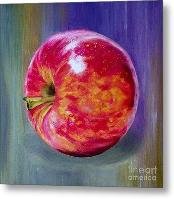 Bright Apple Metal Print by Graciela Castro