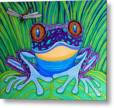 Bright Eyed Frog Metal Print