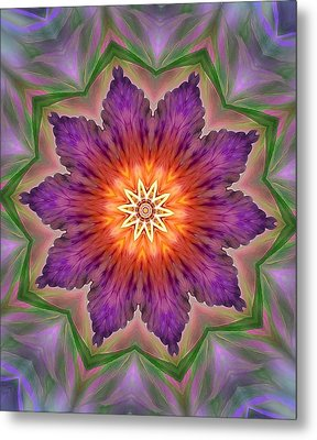 Metal Print featuring the digital art Bright Flower by Lilia D