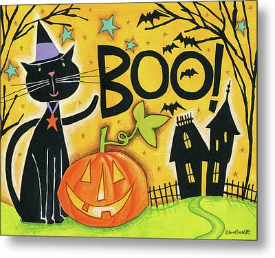 Bright Halloween II Metal Print by Anne Tavoletti