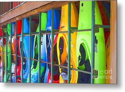 Bright Kayak Metal Print