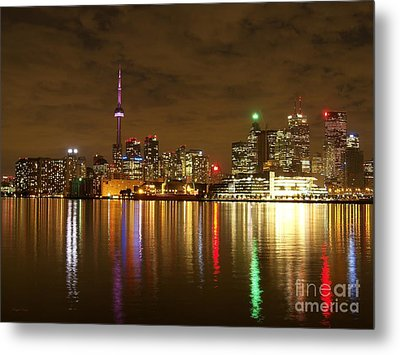Bright Lights Big City Metal Print by Lingfai Leung