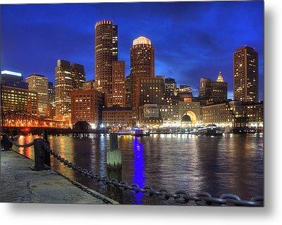 Bright Lights Boston Metal Print by Joann Vitali