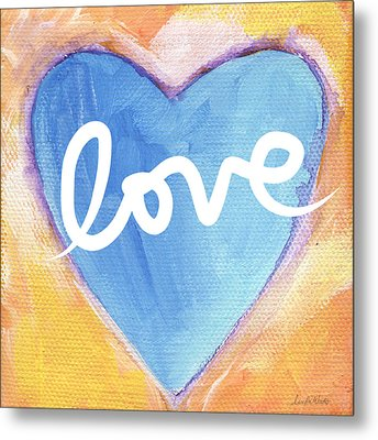 Bright Love Metal Print by Linda Woods