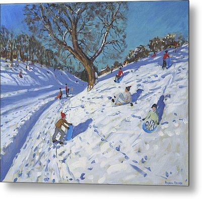 Bright Morning   Chatsworth Metal Print by Andrew Macara