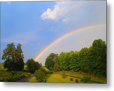 Metal Print featuring the photograph Bright Rainbow by Kathryn Meyer
