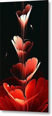 Bright Red Metal Print