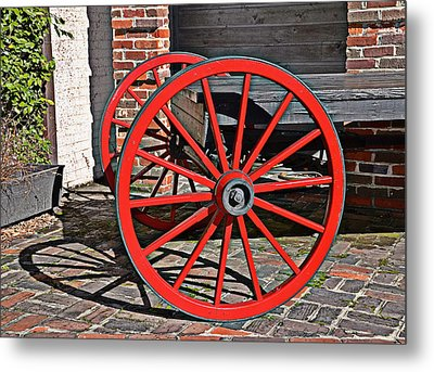 Bright Red Metal Print by Linda Brown
