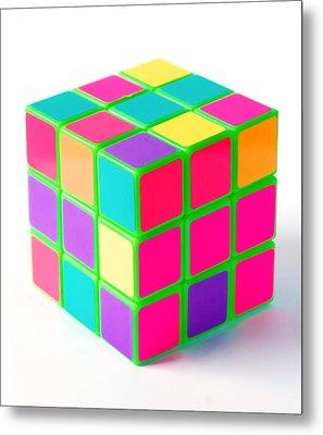 Bright Rubix Metal Print by Kenneth Feliciano