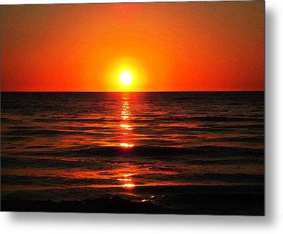 Bright Skies - Sunset Art By Sharon Cummings Metal Print by Sharon Cummings