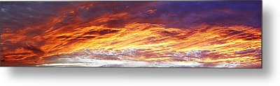 Bright Summer Sky Metal Print by Les Cunliffe
