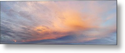 Bright Sunset Sky Metal Print by Les Cunliffe