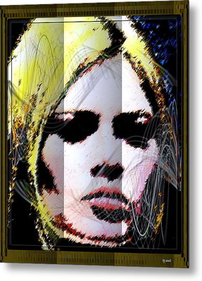 Metal Print featuring the digital art Brigitte Bardot by Daniel Janda