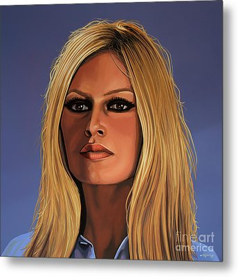 Brigitte Bardot Painting Metal Print by Paul Meijering