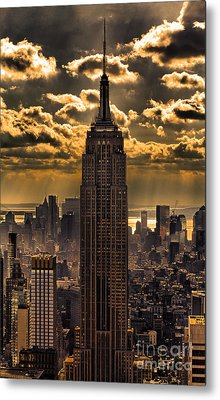 Brilliant But Hazy Manhattan Day Metal Print by John Farnan