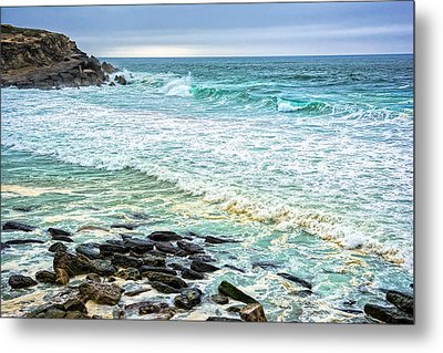 Brilliant Seascape In Portugal Metal Print by Marion McCristall