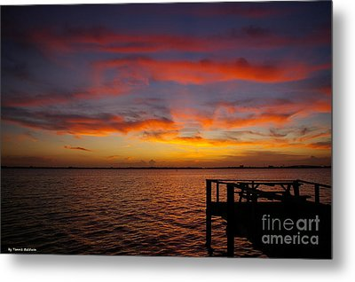 Brilliant Sunset Metal Print by Tannis  Baldwin