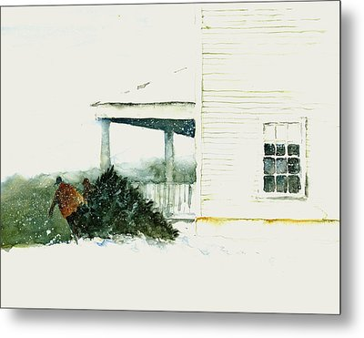Bringing In The Tree Metal Print by William Beaupre