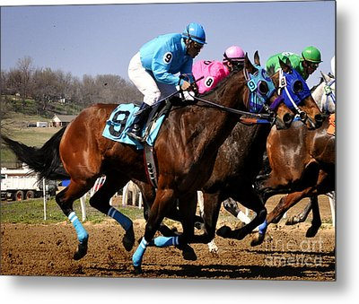 Metal Print featuring the photograph Bringing On The Blue by Nava Thompson