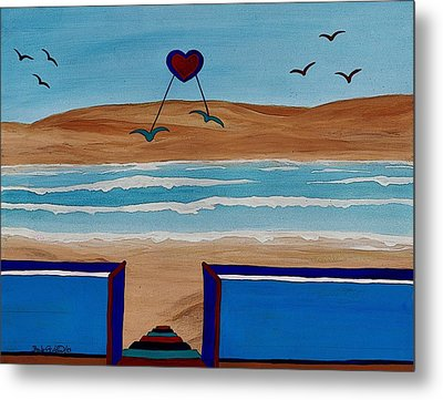 Bringing The Heart Home Metal Print by Barbara St Jean