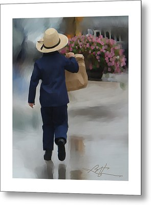 Metal Print featuring the painting Brining It Home To Mom by Bob Salo